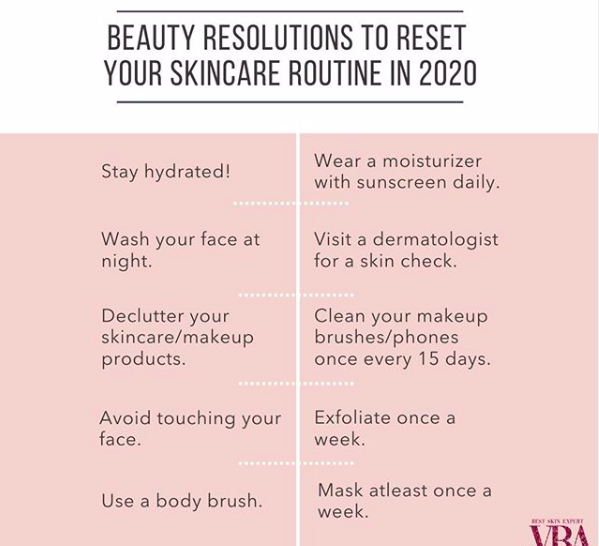 BEAUTY RESOLUTIONS TO RESET YOUR SKINCARE ROUTINE IN 2020