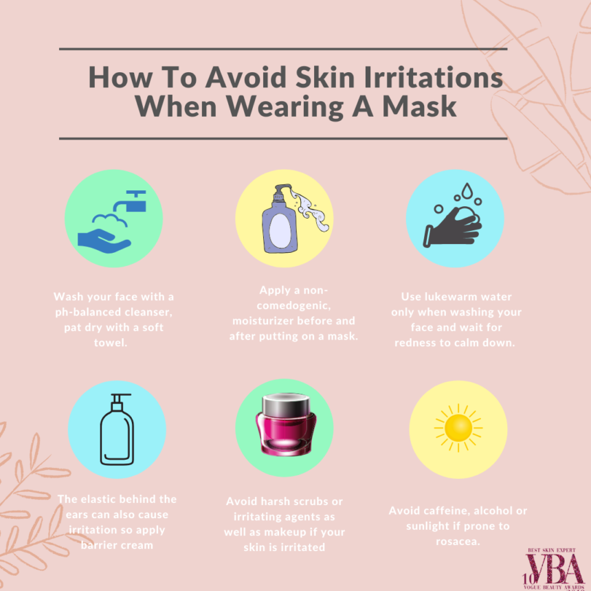 HOW TO AVOID SKIN IRRITATIONS WHEN WEARING A MASK